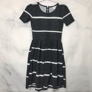 LulaRoe Amelia striped fit & flare dress XXS